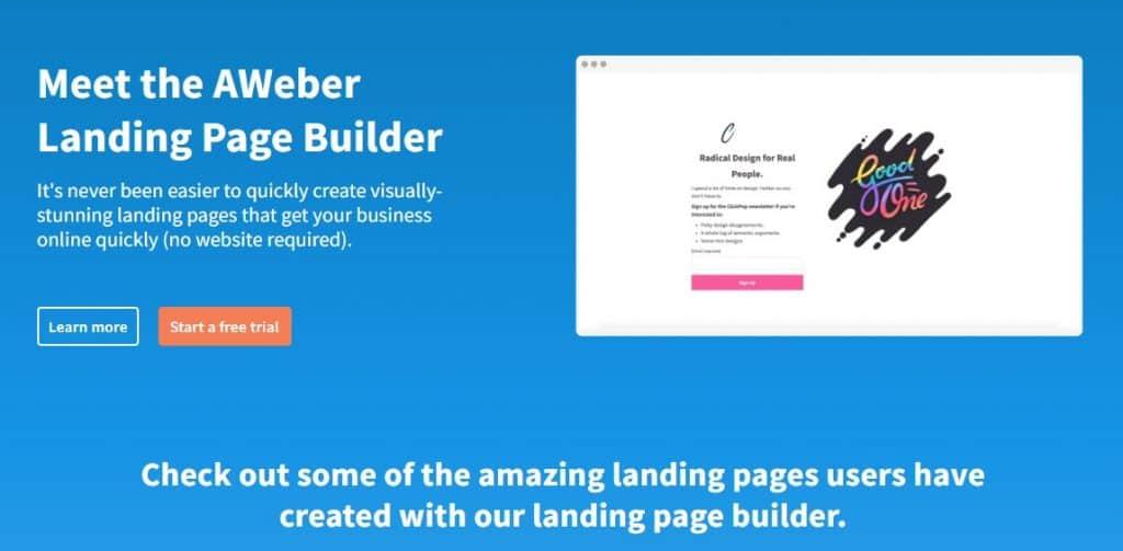 Aweber-Best-Landing-Page-Builder